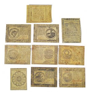 Revolutionary War Replica Currency  Pack